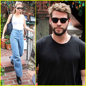 Liam Hemsworth & Girlfriend Gabriella Brooks Grab Lunch With His Brother Luke