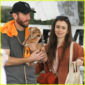 Lily Collins & Boyfriend Charlie McDowell Look So Happy on Farmers Market Date
