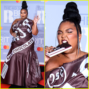 Lizzo's BRIT Awards 2020 Look Is a Chic Hershey Bar Wrapper!