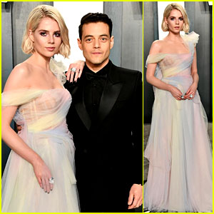 Lucy Boynton Switches Up Her Look for Oscars Party with Boyfriend Rami Malek!