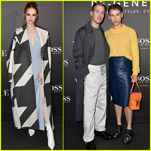 Madelaine Petsch Joins Tommy Dorfman & Cameron Dallas For Boss & Vogue Italia Party in Milan