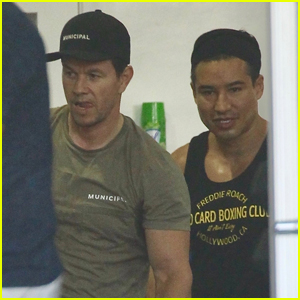 Mark Wahlberg & Mario Lopez Work Up a Sweat Together at the Gym!