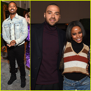 Michael B. Jordan & Jesse Williams Step Out For Macro's Oscar Party