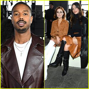 Michael B. Jordan, Camila Morrone & Zoey Deutch Step Out For Coach Fashion Show in NYC