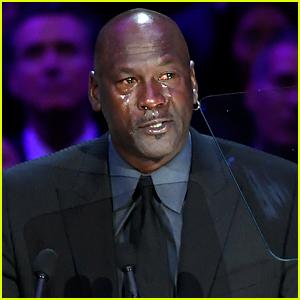 Michael Jordan Jokes About Making New 'Crying Jordan' Meme During Kobe Bryant Celebration of Life Speech (Video)