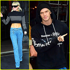 Miley Cyrus & Cody Simpson Leave New York Hotel After Fashion Week