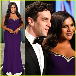 Mindy Kaling & BJ Novak Step Out For Vanity Fair's Oscar Party