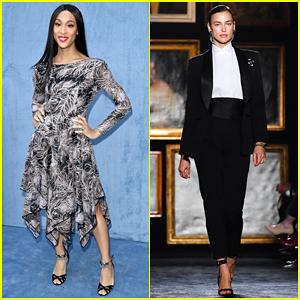 Mj Rodriguez Watches Irina Shayk Close Out Etro Fashion Show!