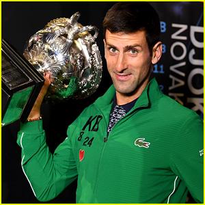 Novak Djokovic Pays Tribute To Kobe Bryant After Winning Australian Open 2020 Kobe Bryant Novak Djokovic Just Jared