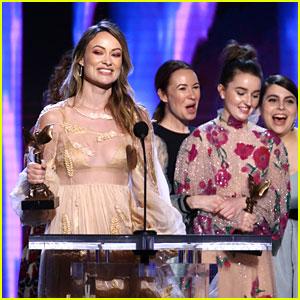 Olivia Wilde Wins Best First Feature for 'Booksmart' at Spirit Awards 2020!