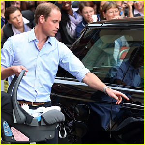 Kate Middleton Speaks About the Now Famous Moment with Prince William Installing Car Seat After Prince George's Birth
