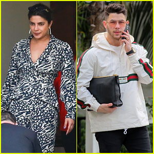 Priyanka Chopra & Nick Jonas Have a Busy Day of Meetings in L.A.