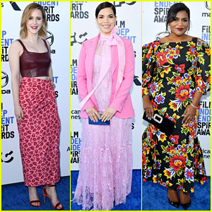Rachel Brosnahan, America Ferrera, & Mindy Kaling Step Out for Spirit Awards 2020!
