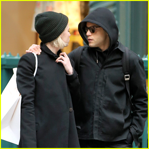 Rami Malek & Lucy Boynton Couple Up for a Shopping Spree in NYC
