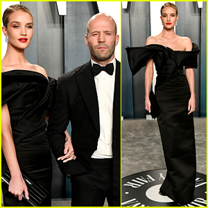 Rosie Huntington-Whiteley & Jason Statham Stay Classy in Black at Oscars Party 2020