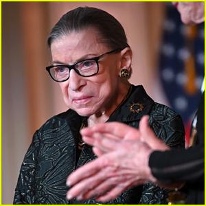 Ruth Bader Ginsburg Sports Sparkly Silver Heels at Award Ceremony