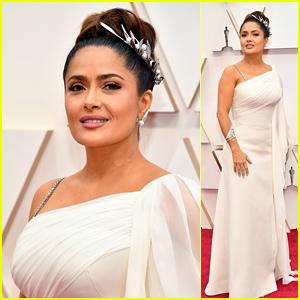 Salma Hayek Gives Goddess Glamour at Oscars 2020