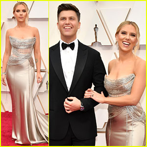 Double Nominee Scarlett Johansson Attends Oscars 2020 with Fiance Colin Jost!
