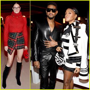 Shailene Woodley, Usher & Janelle Monae Sit Front Row at Balmain's Paris Fashion Show!
