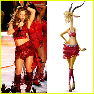 Shakira S Super Bowl Outfit Was The Same As Her Zootopia Character S Outfit 2020 Super Bowl Shakira Zootopia Just Jared