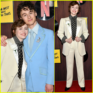 Sophia Lillis & Wyatt Oleff Both Wear Cool Suits For 'I Am Not Okay With This' Premiere