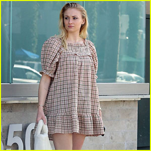 Pregnant Sophie Turner Wears a Short Dress While Running Errands with Joe Jonas