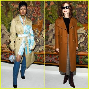 Teyana Taylor & Isabelle Huppert Sit Front Row at Lanvin Paris Fashion Week Show!