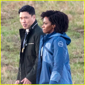 Teyonah Parris Wears S.W.O.R.D. Apparel While Filming 'WandaVision' Scene as Monica Rambeau