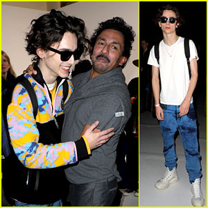 Timothee Chalamet Stays Cool in Shades at Haider Ackermann's Paris Show