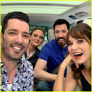Watch Zooey Deschanel & Jonathan Scott Meet on 'Carpool Karaoke!'