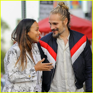 Zoe Saldana & Hubby Marco Perego Share a Laugh During Lunch Date!