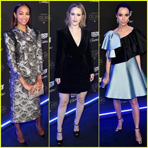 Zoe Saldana, Rachel Brosnahan & More Celebrate Oscars Week at Cadillac Party!