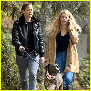 Amber Heard & Girlfriend Bianca Butti Step Out to Walk the Dog