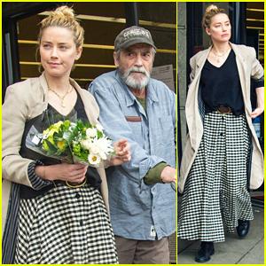 Amber Heard Picks Up Groceries With Her Dad Amid Coronavirus Panic