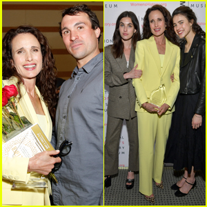 Andie MacDowell Supported By Kids Justin, Rainey, & Margaret Qualley at Women Making History Awards 2020