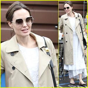 Angelina Jolie Stocks Up on Groceries With Daughter Vivienne Amid Coronavirus Panic