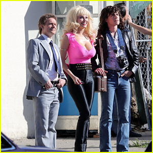 Emmy Rossum Films More Scenes in Hot Pink for 'Angelyne' Series!