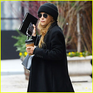 Mary-Kate Olsen Is Bundled Up in Black During Rare Spotting