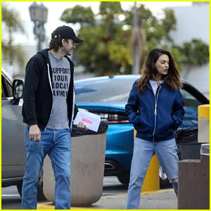 Ashton Kutcher & Mila Kunis Keep Each Other Company at the DMV