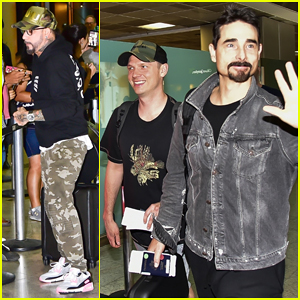 Backstreet Boys Greet Fans at Airport in Brazil After Canceling Concert Due To Coronavirus