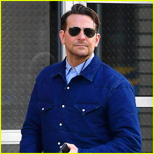 Bradley Cooper Looks Handsome in Blue While Running Errands in NYC