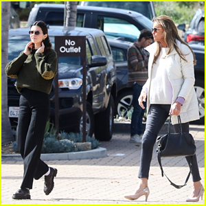 Caitlyn Jenner & Kendall Jenner Meet Up for Lunch Together in Malibu