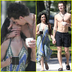 Shirtless Shawn Mendes Leans In for a Kiss with Camila Cabello!