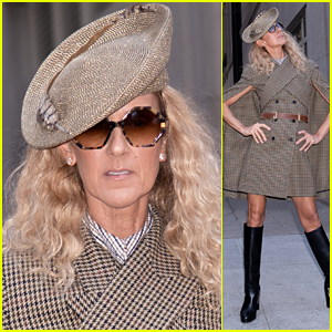 Celine Dion Strikes a Pose in a Fierce Outfit in NYC