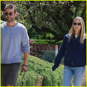 Chace Crawford & Ex Girlfriend Rebecca Rittenhouse Meet Up for Afternoon Stroll