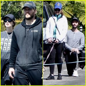 Chris Pratt & Katherine Schwarzenegger Join Her Family for Afternoon Walk