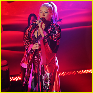 Christina Aguilera Delivers Powerhouse Performance of 'Loyal Brave True' From 'Mulan' on 'Kimmel'!