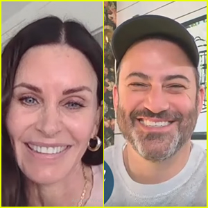 Courteney Cox Takes A Monica Gellar Trivia Test With Jimmy Kimmel's Cousin
