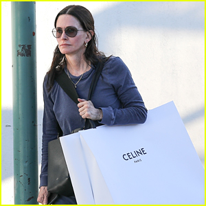 Courteney Cox Carries Extremely Large Celine Shopping Bag in LA