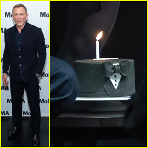 Daniel Craig Was Gifted With A Suit & Bowtie Birthday Cake at MoMA Event